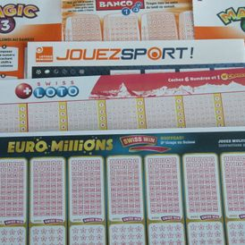 Swiss Lotto - Euro Million - Jouez Sport - Banco - Magic 3&4